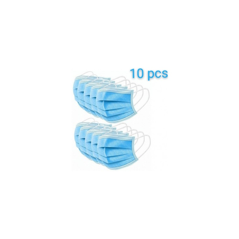 Masque médical 3 plis sachets de 10 unités